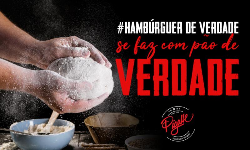 Hambúrguer de verdade se faz com pão de verdade